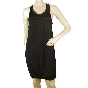 Atos Lombardini Black Woolen Sleeveless Mini Length