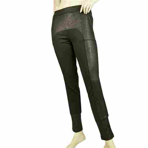 Never Enough Black Shiny Leggings trousers pants size S