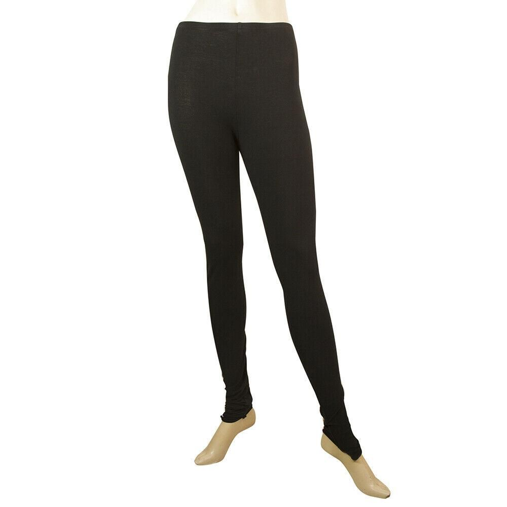 Rundholz Black Cotton Blend Long Leggings trousers