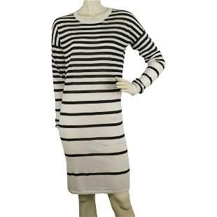 Joseph Blue & White 100% Cashmere Marine Look Striped