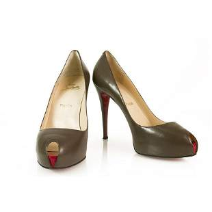 Christian Louboutin Taupe leather Minibout Zep 130