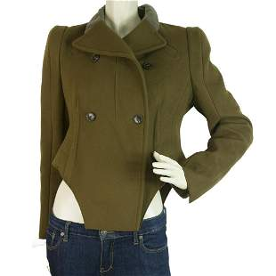 Carven Khaki Green Military Style Long sleeve