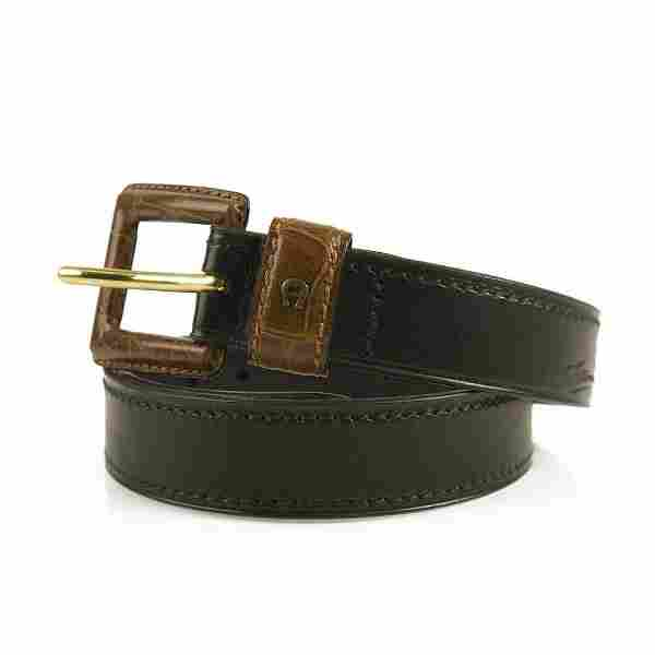 Etienne Aigner Women's Black and Brown Leather Belt w.