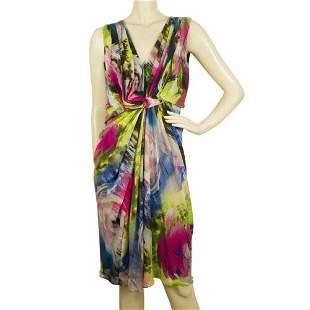 DVF Diane Von Fustenberg Multicolor Silk Printed
