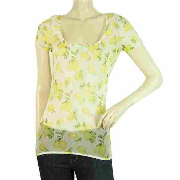 Dolce & Gabbana Intimo D&G Yellow Lemons Short Sleeve