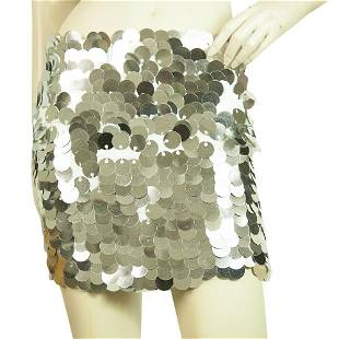 Charlotte Solnicki Silver Round Large Sequins Front
