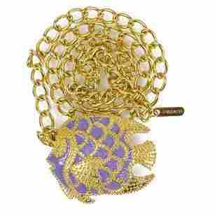 Fisico Single Strand Gold tone Chain Drop Belt w.