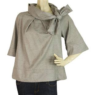 French Connection Gray Swing Style Top w. Back Slit &