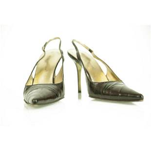 Dolce & Gabbana Watersnake Leather Black Pointed Toe