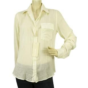 Krizia Off White Button Down Wear to Work Shirt Top