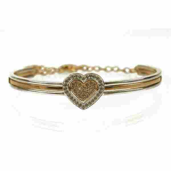 Swarovski J-Nina Cupid Heart Silver Gold Tone Crystals
