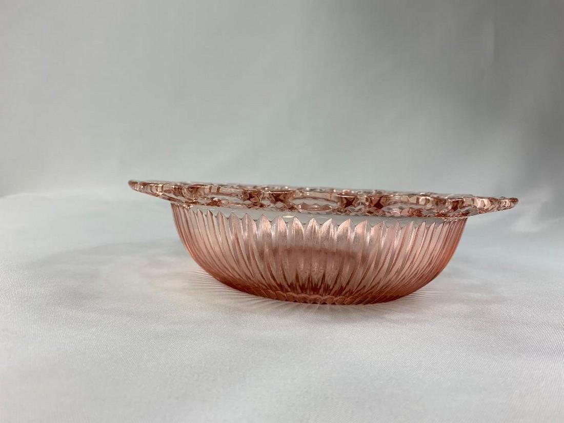 Pink Depression Glass Serving Bowl