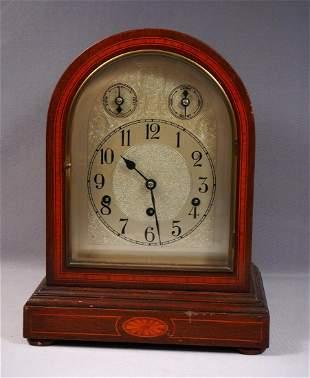 Antique KIENZLE Clock Mahogany Westminster Chime Mantel