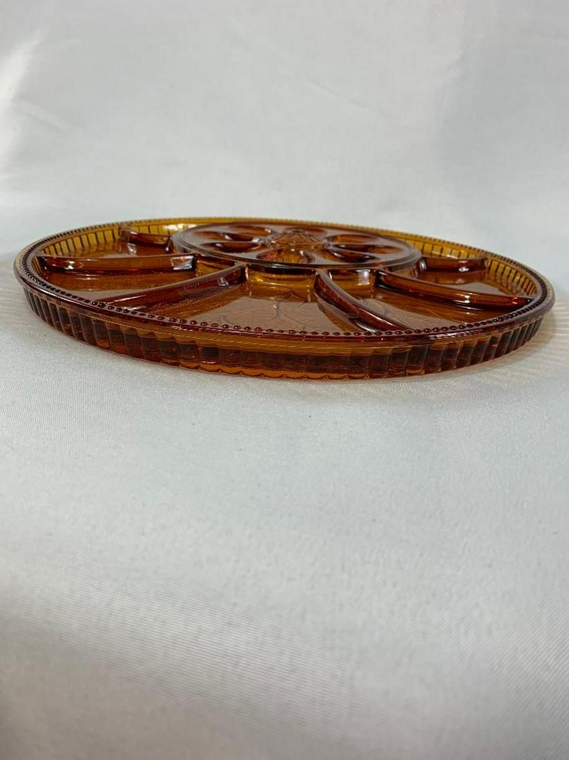 Vintage Indiana Carnival Glass in a Deep Marigold