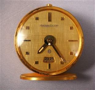 Jaeger LeCoultre Mini Travel Desk Alarm Clock 8 Days