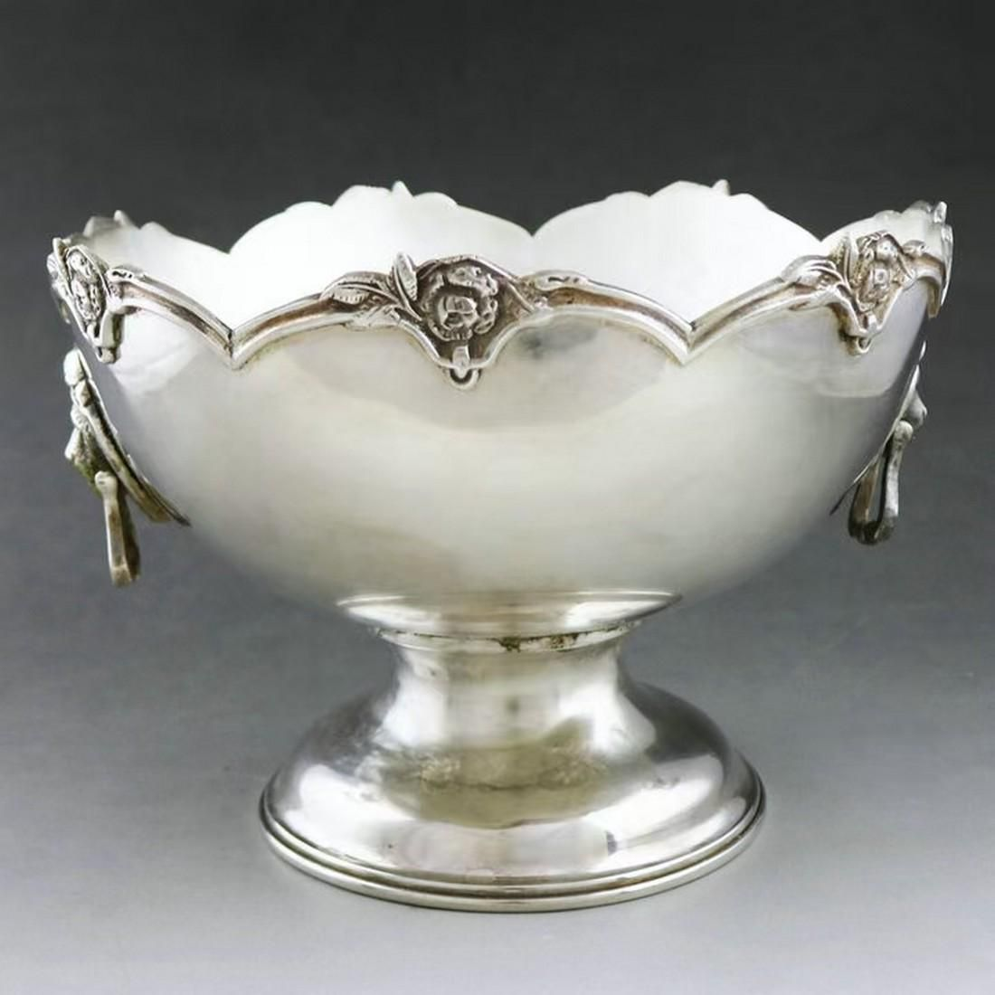 Nordic sterling silver tall fruit plate