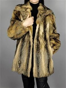 Brown Fox Fur Jacket