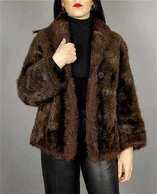 Brown Beaver Fur Jacket