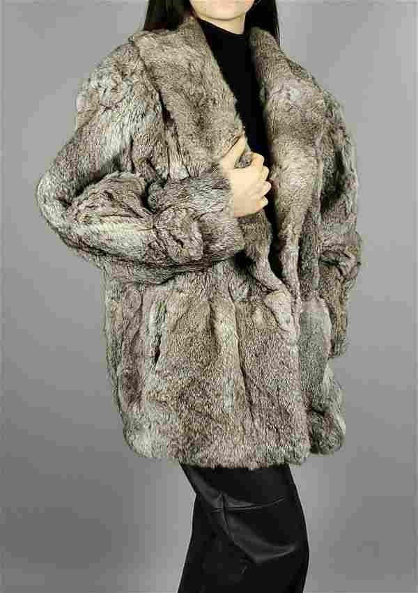 Grey Lapin Fur Coat