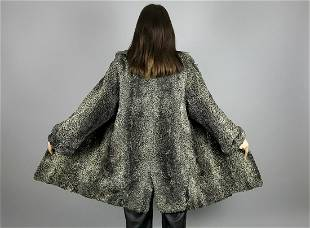 Grey Curly Persian Lamb Coat