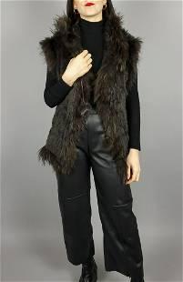 Brown Lapin Raccon Vest