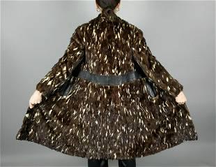 Brown Beige Fur Lapin Coat