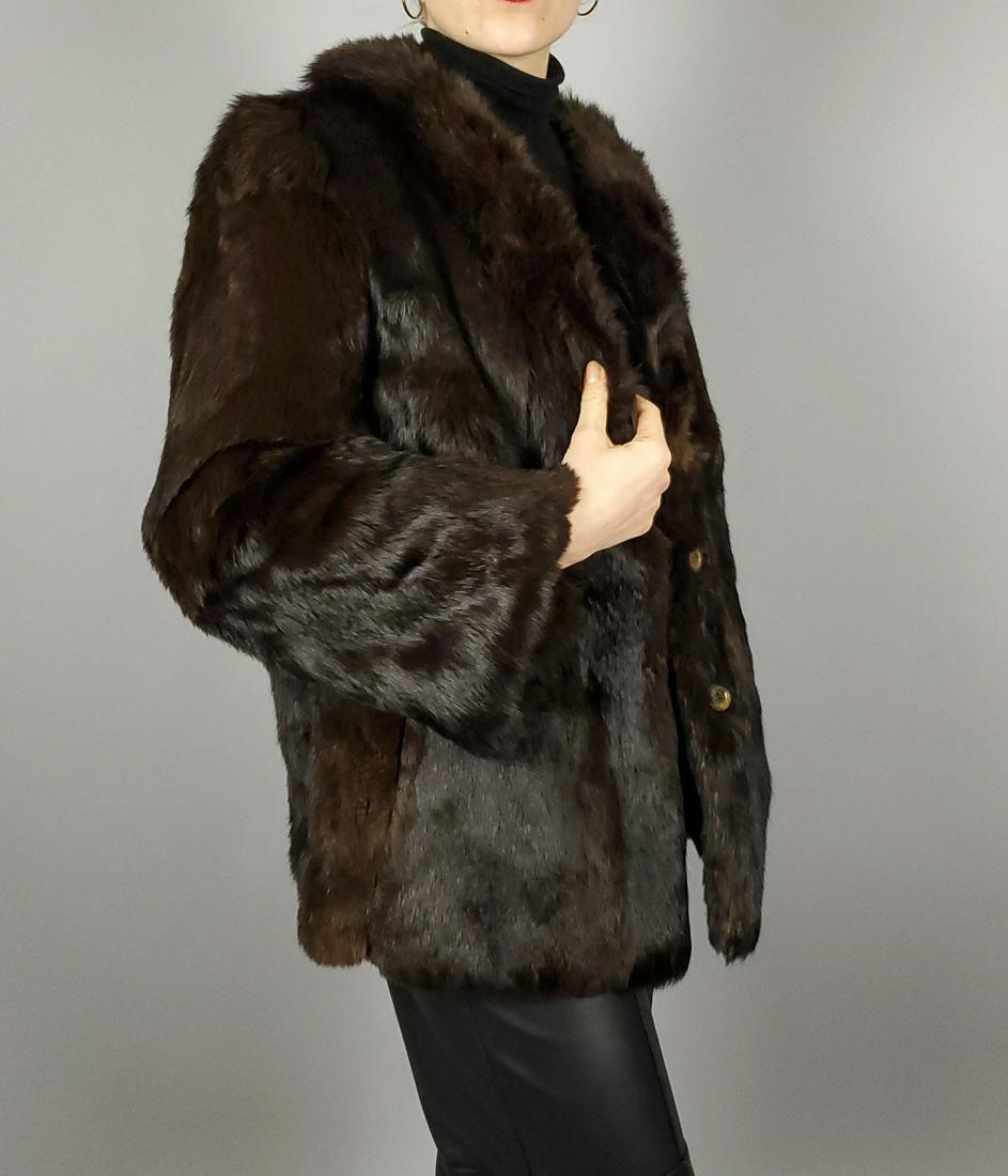 Brown Lapin Fur Jacket