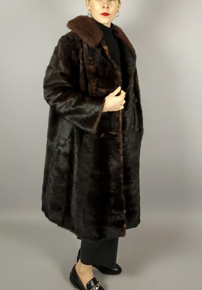 Brown Beaver Fur Coat