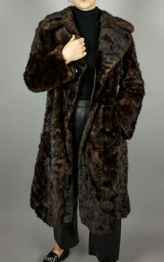 Dark Brown Mink Fur Coat