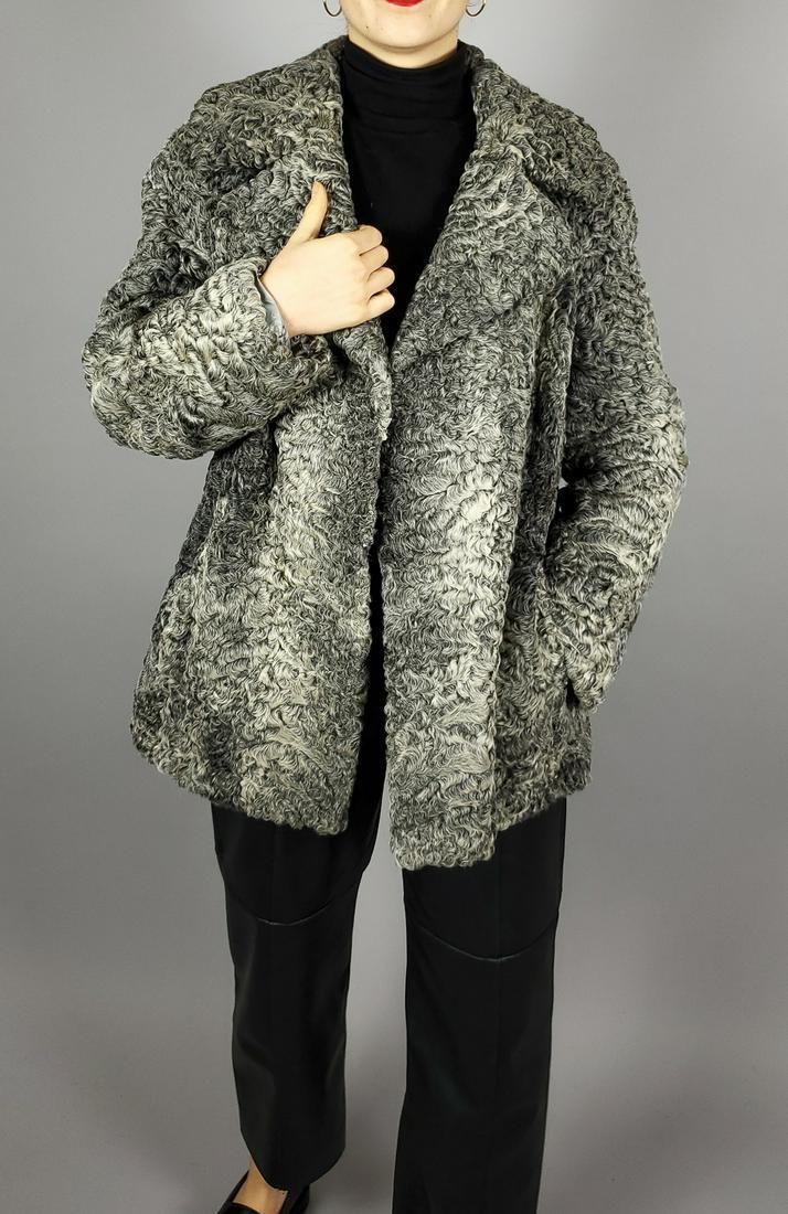 Grey Curly Persian Lamb Jacket