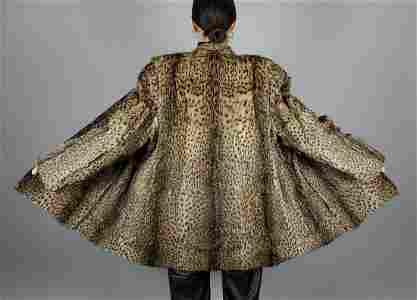Black Brown Spotted Fur Jacket