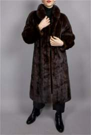 Brown Saga Mink Fur Coat