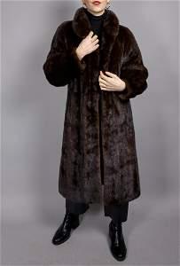 Brown Saga Mink Fur Coat