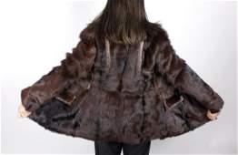 Brown Black Goat Fur Jacket