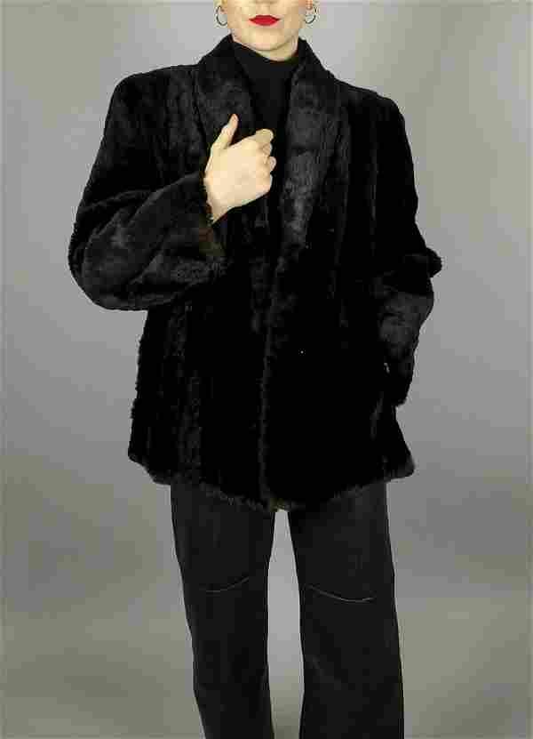 Black Sheared Beaver Fur Jacket