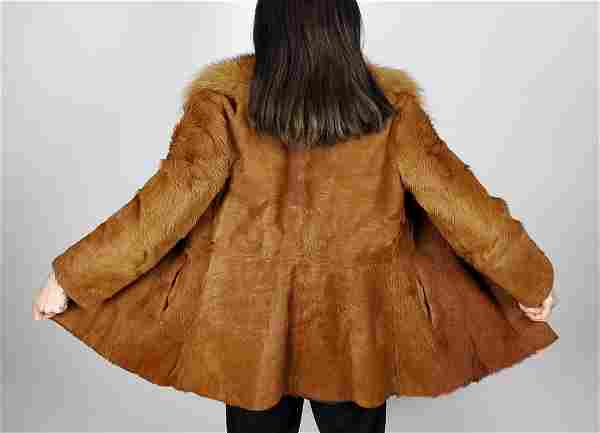 Brown Cowhide Fur Jacket