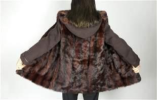 Brown Reddish Mink Fur Jacket