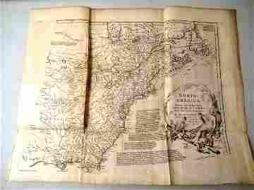 1752 Four Section Maps North America