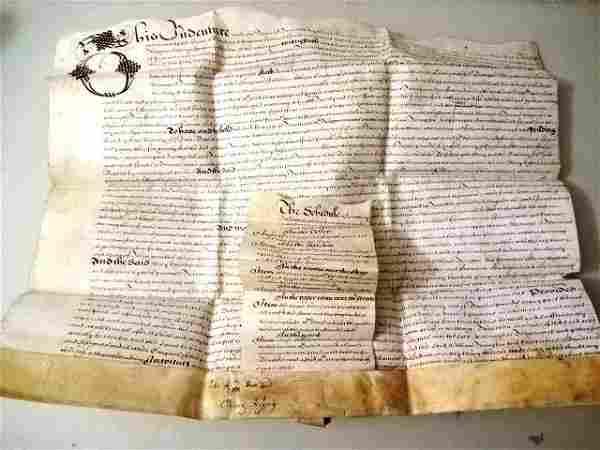 1661 English Indenture London Property Apothecary