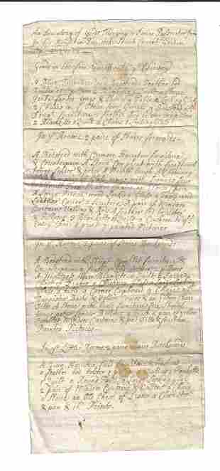 1718 English Inventory Covent Garden London