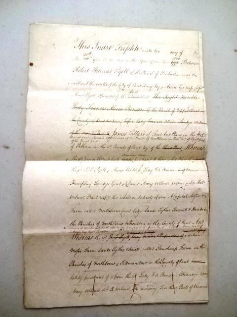 1793 Two English Deed Indentures Sandys