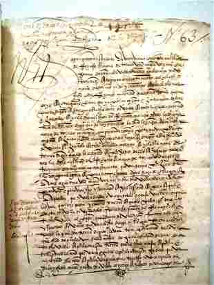1543 Two Spanish Legal Documents