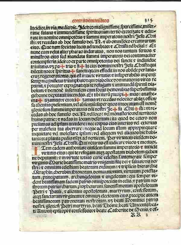 1567 Catholic Ritual Leaf Exorcism
