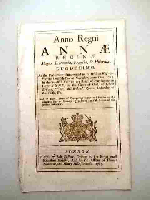 1713 English Act Queen Anne Militia