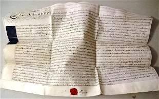 1800 Fine English Vellum Indenture Seal