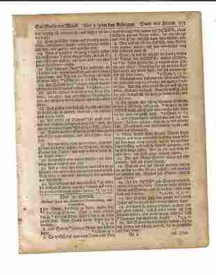 1776 Revolutionary War Saur Bible Leaf Germantown