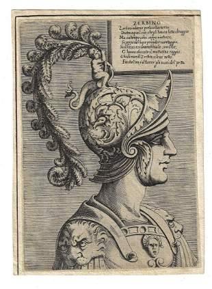 17th C Engraving Zerbino Orlando Furioso