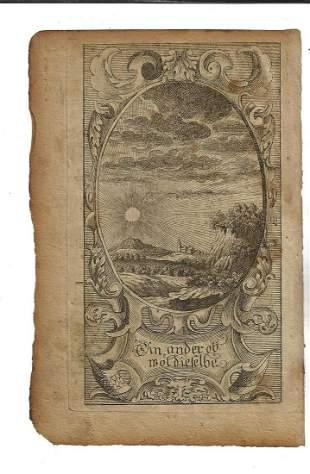 1751 Leaf Benjamin Franklin Fraktur Engraving