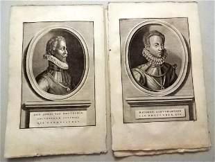 1730 Lot Engravings of Dutch Notables