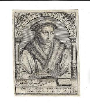 1650 De Bry Engraving Joannes Ludovicus